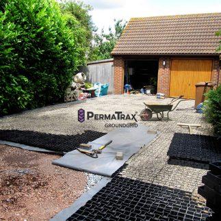 PT groundgrid Garage uppfart under uppbyggnad_small
