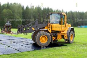 mats covering at festival outdoor